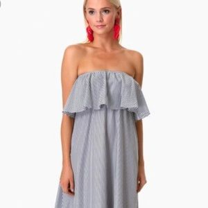 DO + BE Blue and White Stripe Maxi Dress - XS